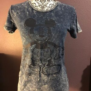Mickey Mouse T-shirt.